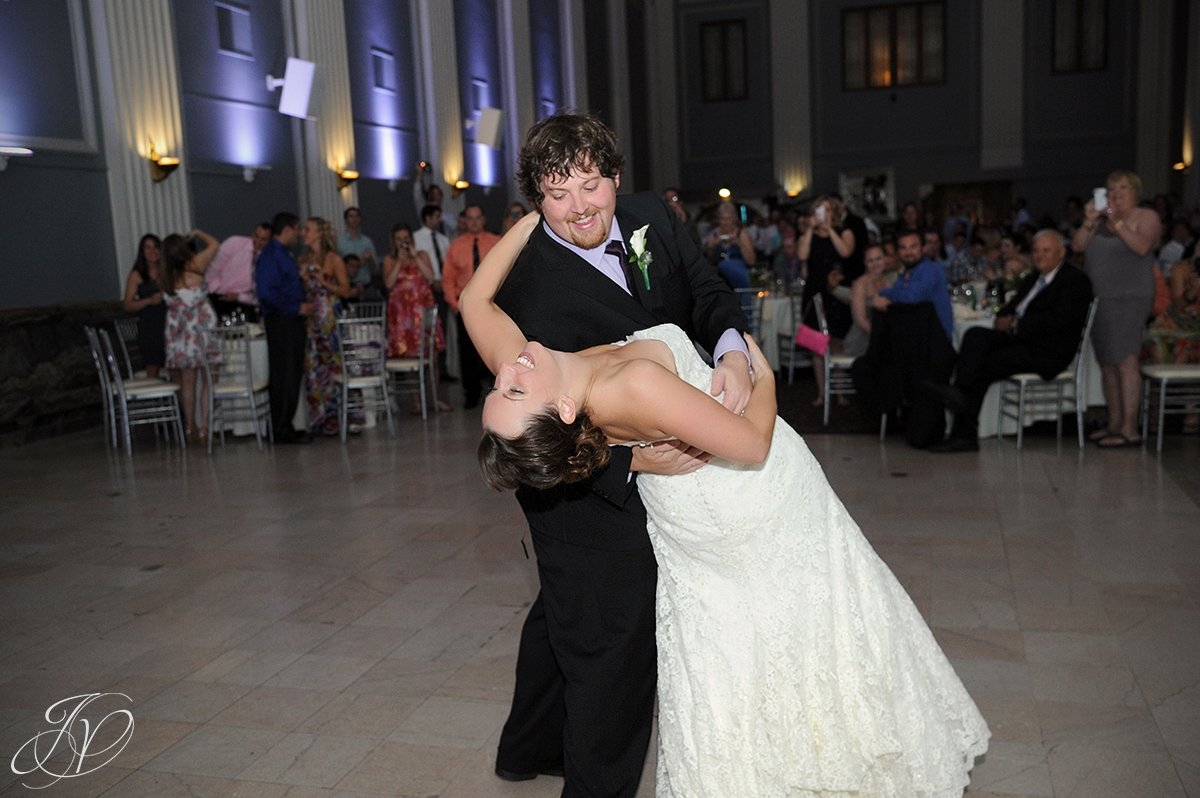 first dance photo, first dance at proctors, Key Hall Proctors reception, Schenectady Wedding Photographer