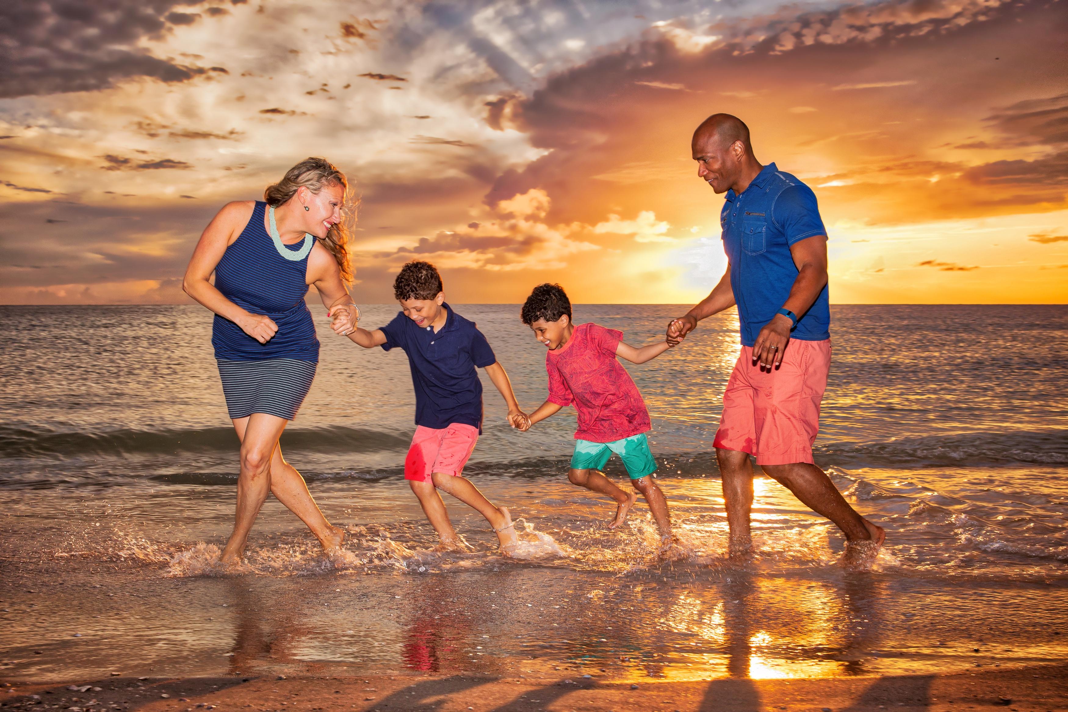 Clearwater Beach Rosario Family photos at Sand Key Beach