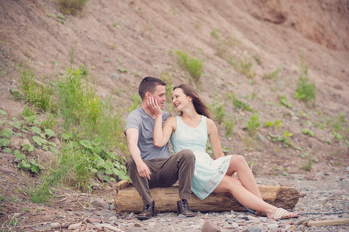 romantic beachfront engagement photo