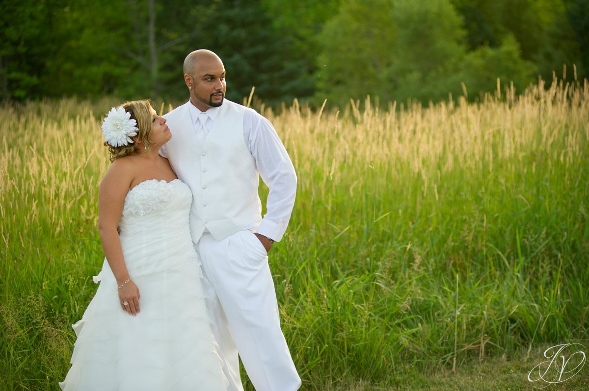 Settle Hill Tree Farm Wedding ,Albany Wedding Photographer, Michele and Sean, bride and groom in field photo