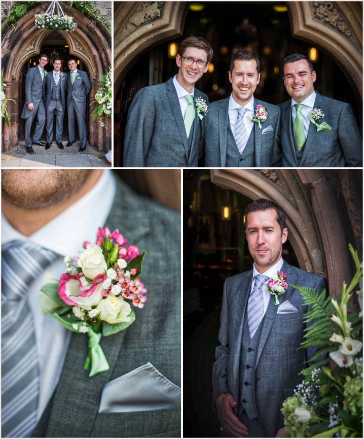 Lancashire Groom with his best men