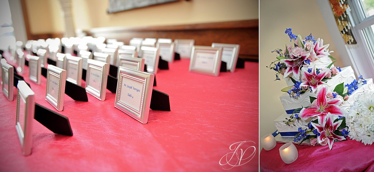 reception detail photos, Waters Edge Lighthouse, schenectady rose garden, Schenectady Wedding Photographer,