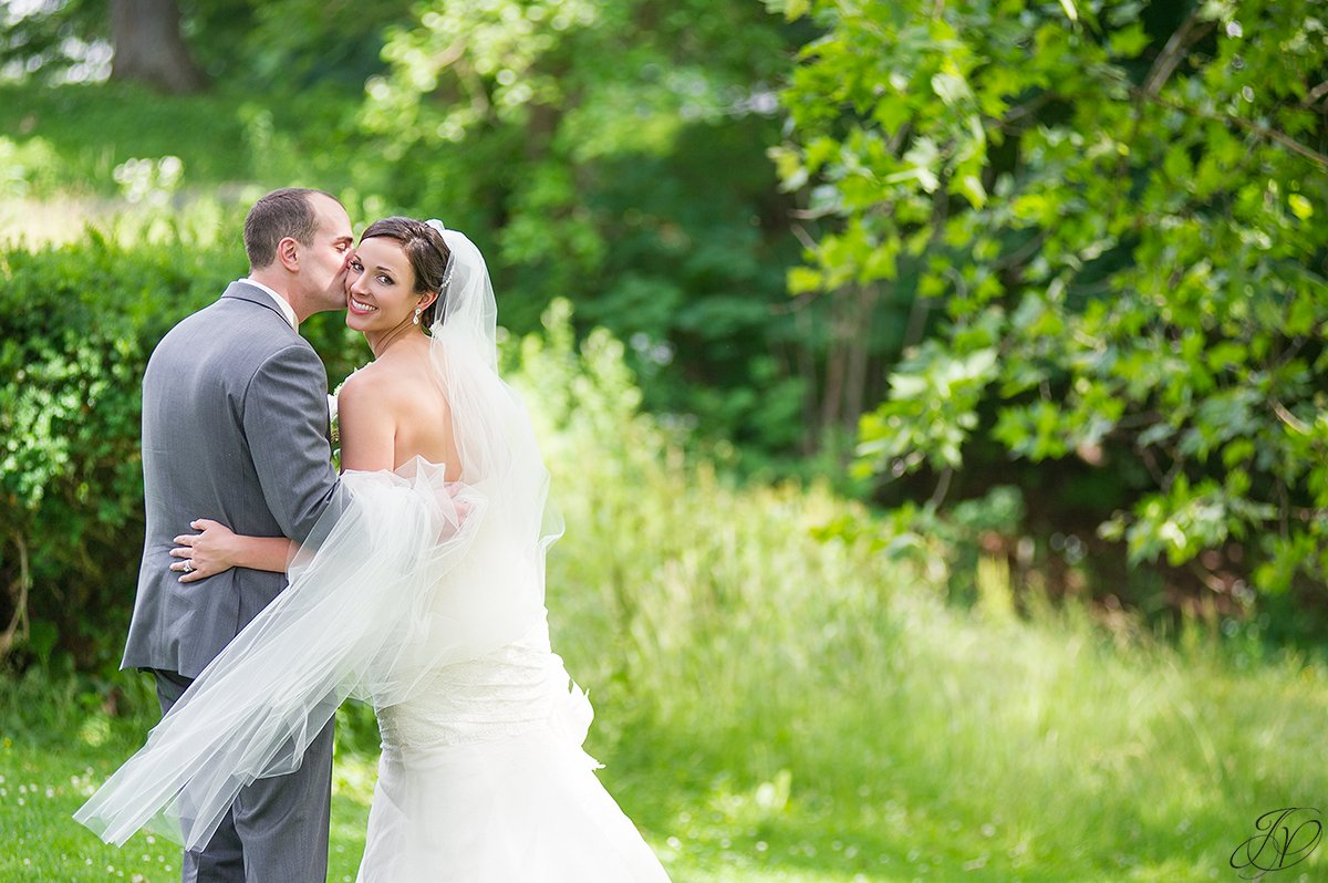 beautiful bride and groom shot in congress park