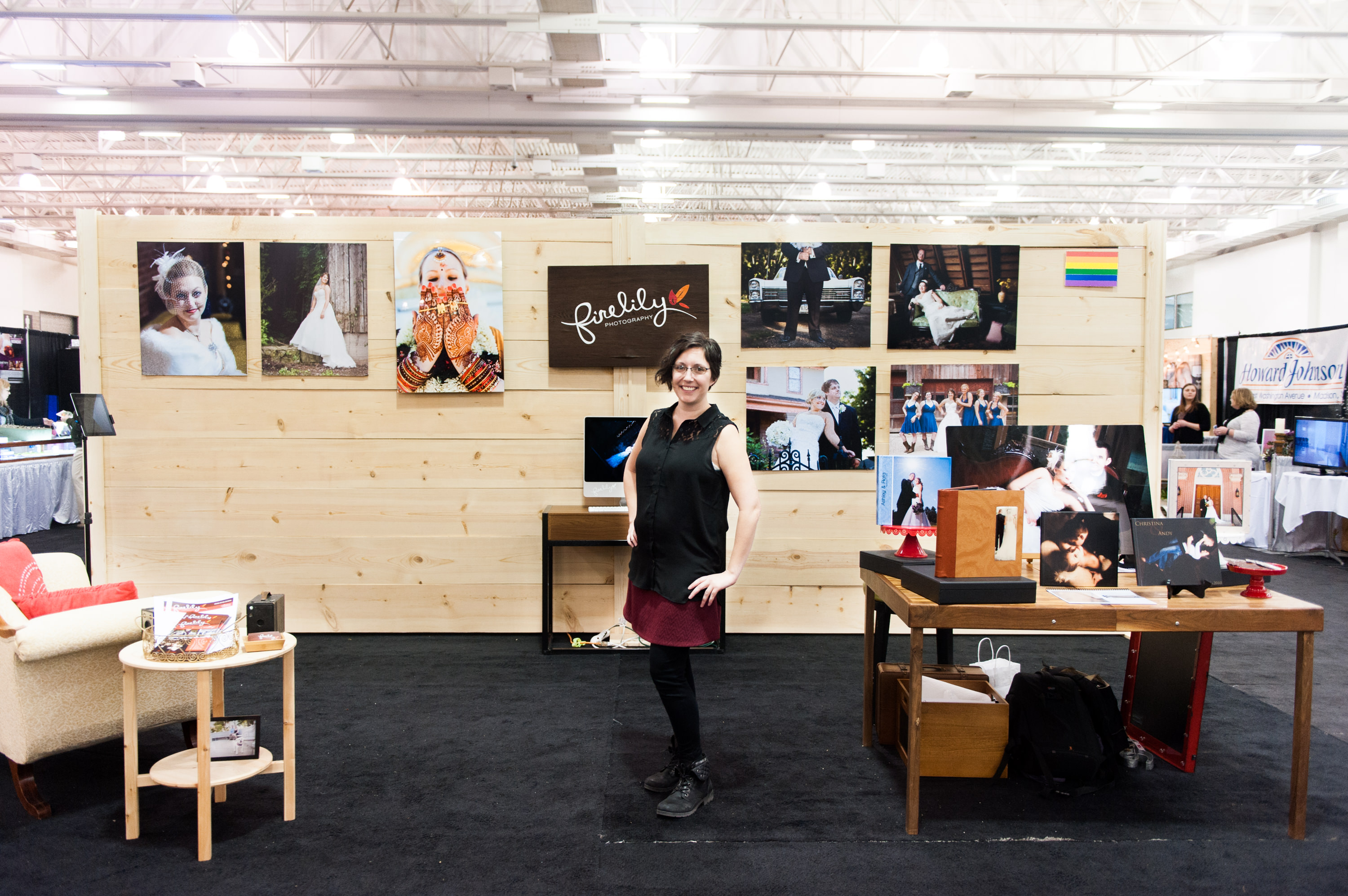 Firelily Photography Madison, WI 2017 Winter Bridal Show Booth | Beautiful Wedding Photography Booth Setup with Jen Doser
