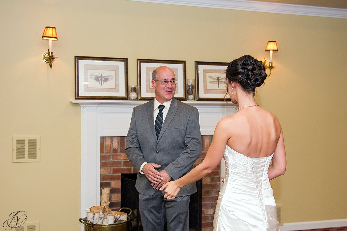 sweet first look with dad albany wedding photographer