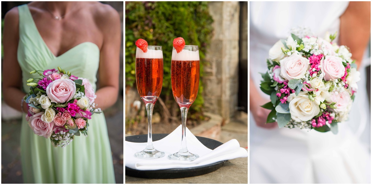 Lancashire wedding day detail shot of drinks
