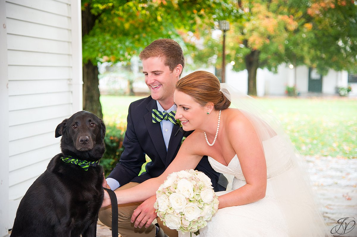 cute photo of bride and groom with their dog
