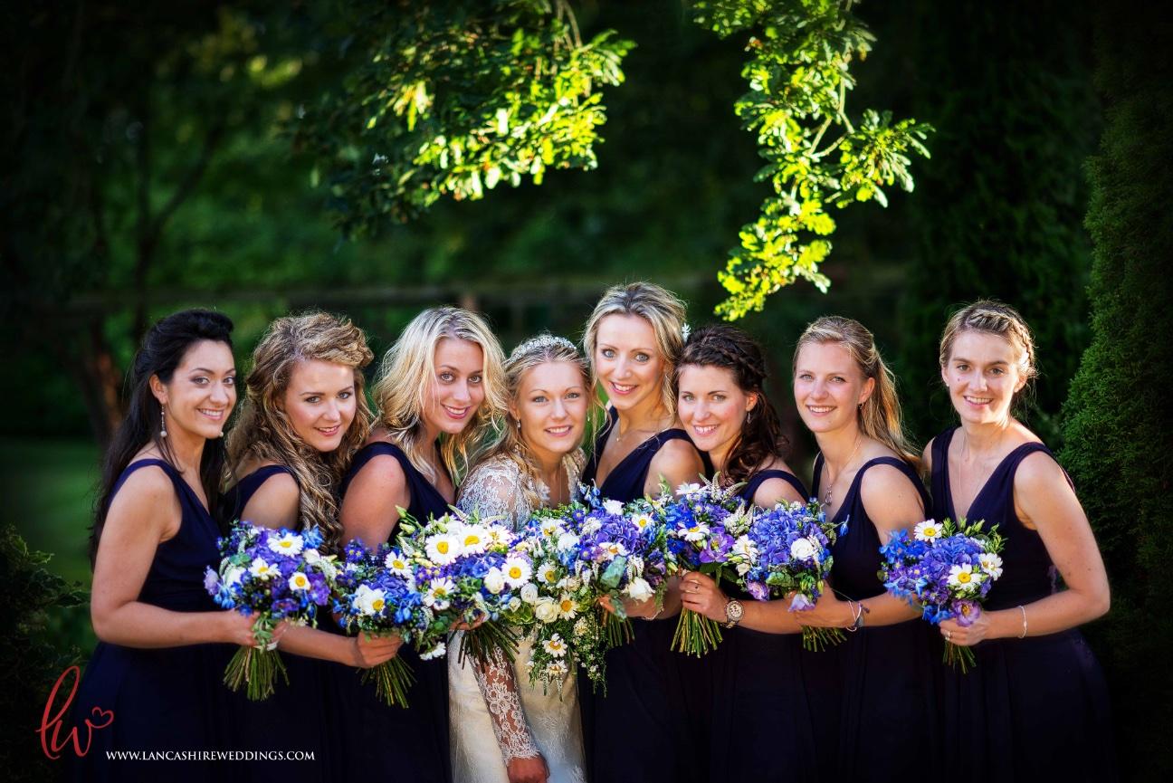 Bridal party at Nunsmere Hall