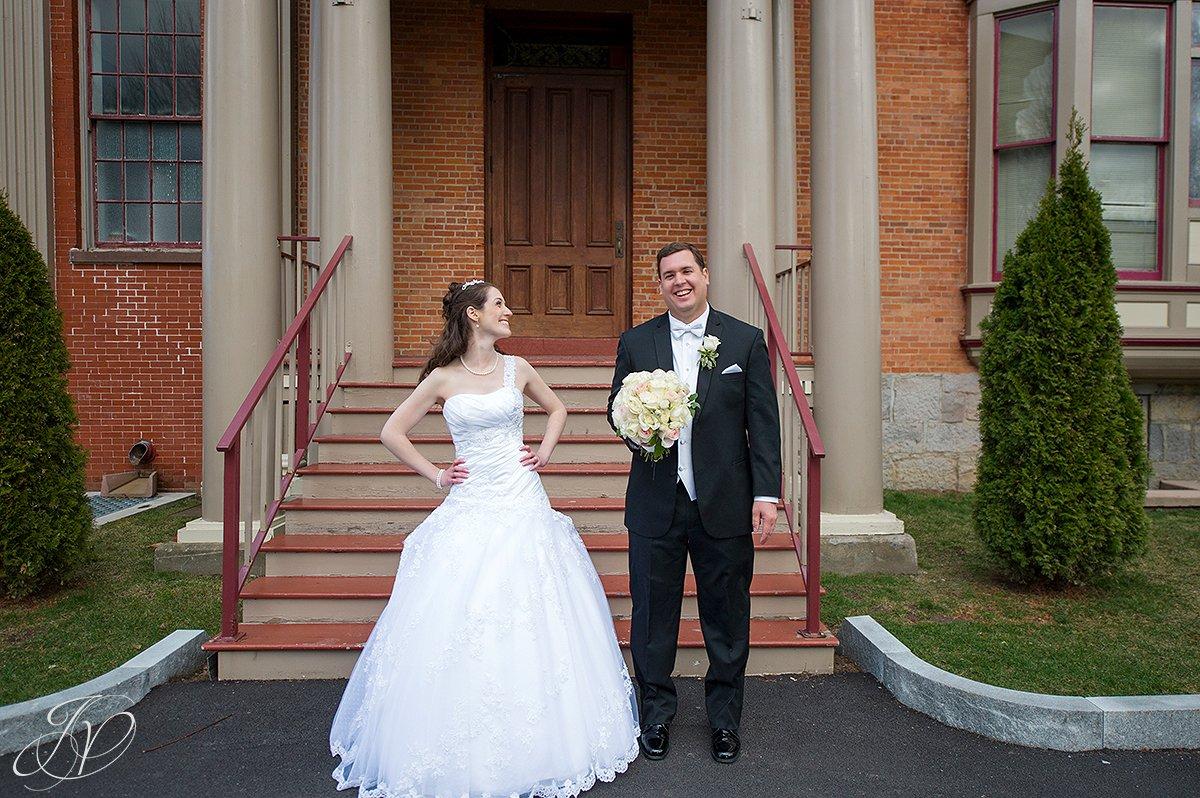 goofy bride and groom photo, fun bride and groom photo, The Canfield Casino wedding, Saratoga Wedding Photographer, wedding in congress park photo