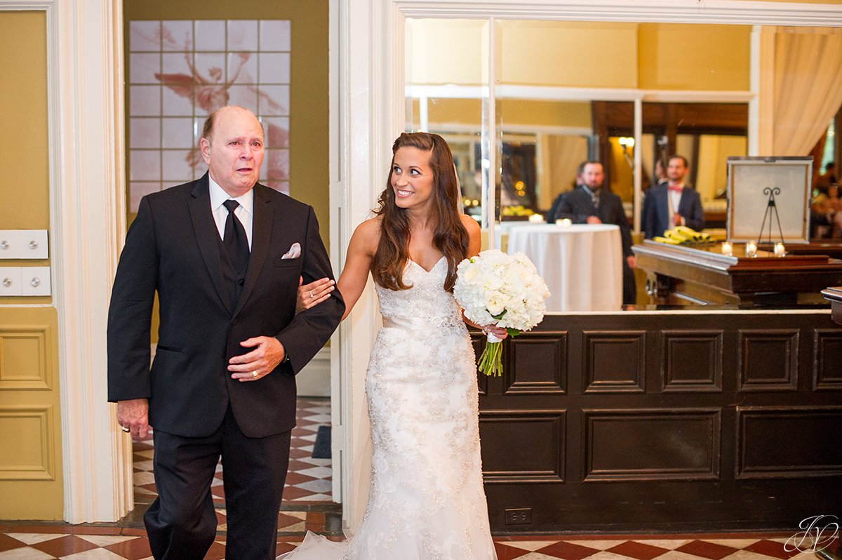 father walking daughter down the aisle canfield casino
