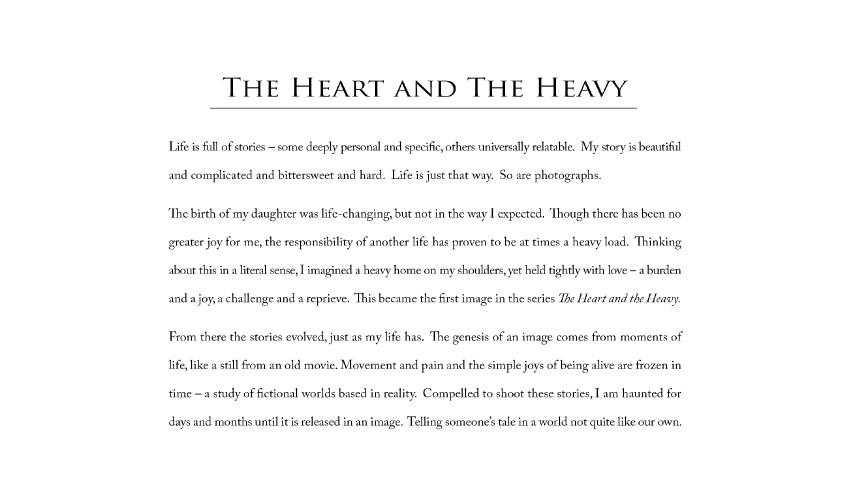 Heather evans smith photography the heart and the heavy series