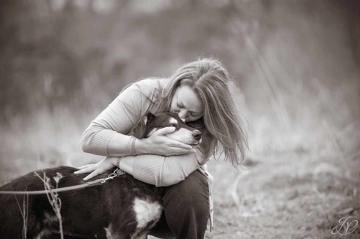 emotional photo of animal rescuer