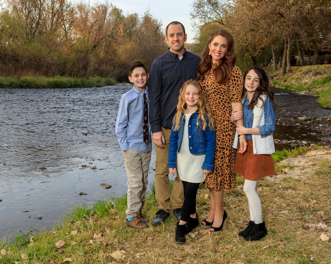 Fall Family Portraits at Boise River, late Fall