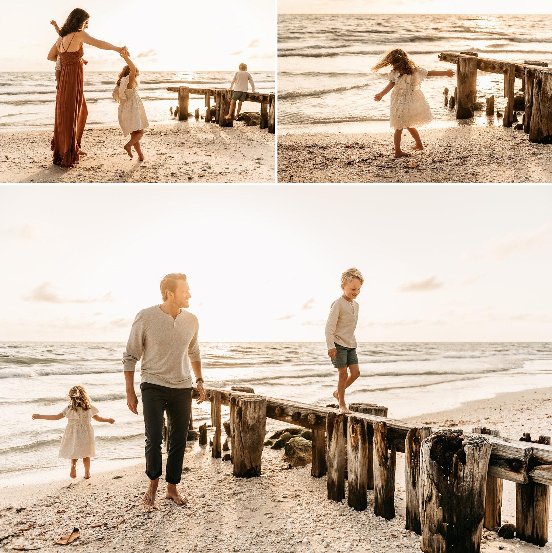 Naples Beach family pictures, sunset coastal family photos, Ryaphotos