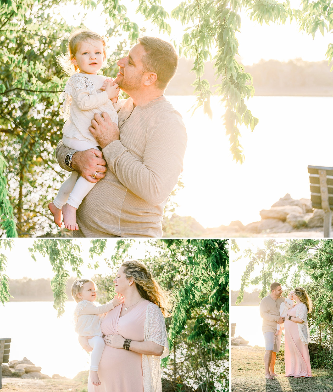 image collage, family maternity session, Saint Augustine, Florida, Ryaphotos
