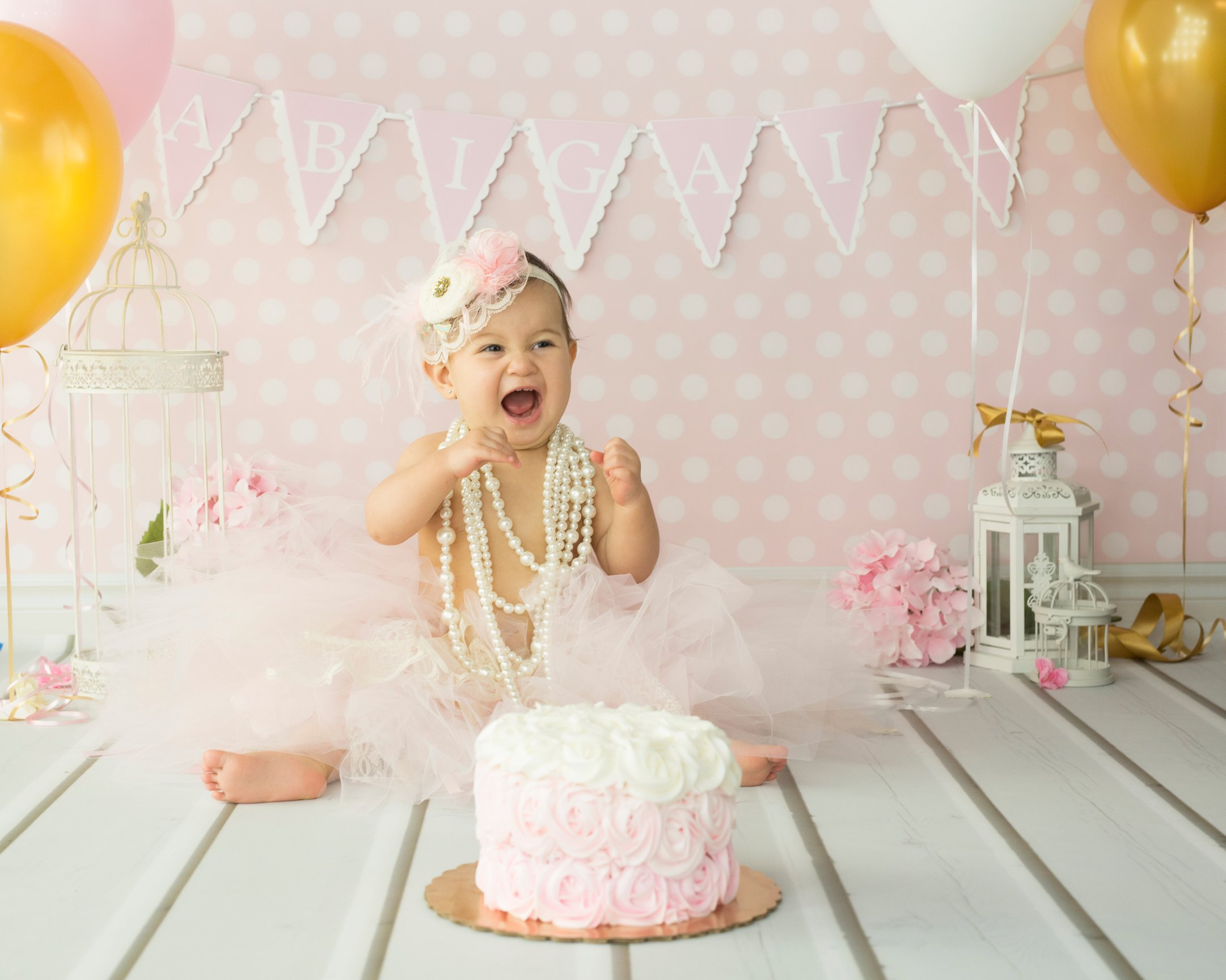 Sensational Abigail Cake Smash Fort Worth Photographer Lilly Blue Photography Birthday Cards Printable Nowaargucafe Filternl