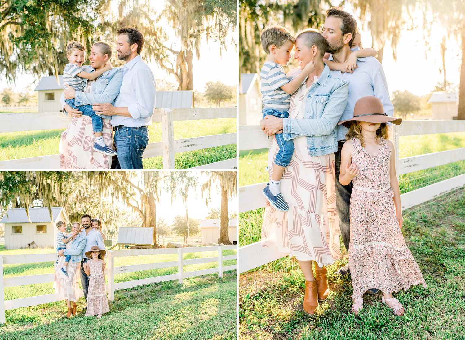 spring family photo session, photo collage, Congaree and Penn, Florida