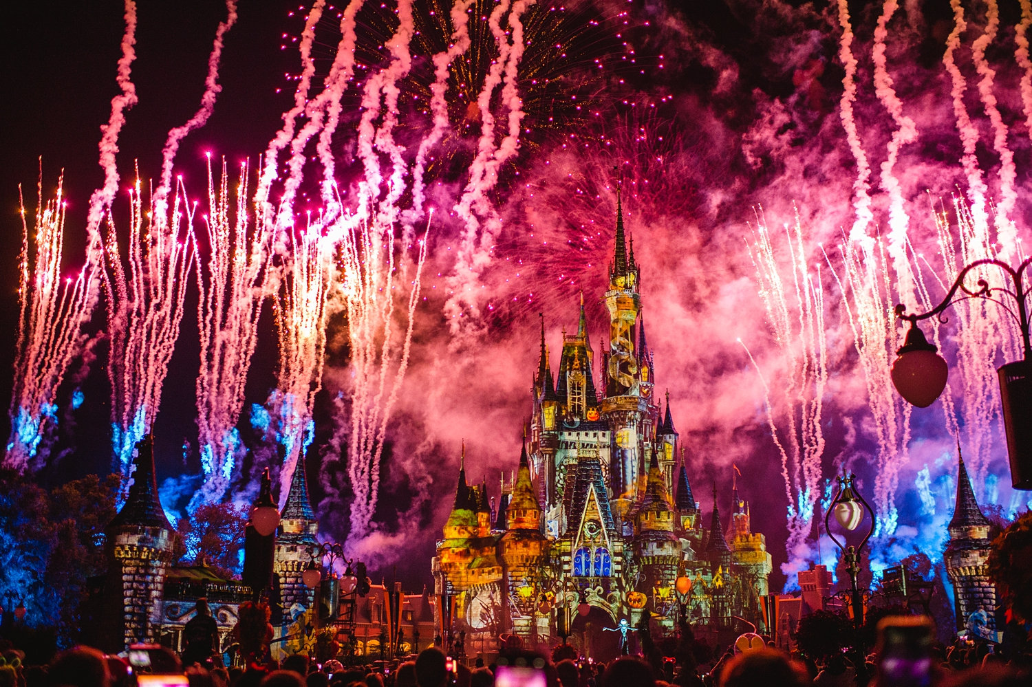 Halloween fireworks show at Magic Kingdom, Mickey's Not So Scary Halloween Party Jack Skellington
